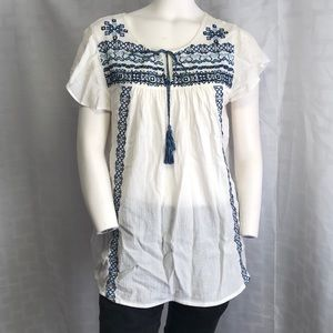 Beachlunchlounge Anthropologie Embroidered Top